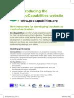 GeoCapabilities Flyer