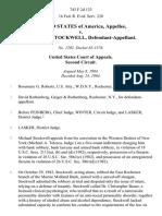 United States v. Michael C. Stockwell, 743 F.2d 123, 2d Cir. (1984)