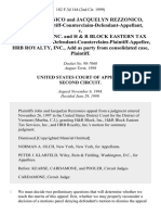 John Rezzonico and Jacquelyn Rezzonico, Defendant-Plaintiff-Counterclaim-Defendant-Appellant v. H & R Block, Inc. And H & R Block Eastern Tax Services, Inc., Defendant-Counterclaim-Plaintiff-Appellee, Hrb Royalty, Inc., Add as Party From Consolidated Case, 182 F.3d 144, 2d Cir. (1999)