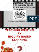 IMPLEMENTATION TEACHING WRITING BY INQUIRY BASED LEARNING OF.ppt