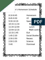 tam 2016-2017 schedule