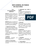 Reglamento General de Fondos de Caja Chica