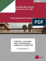 Criterios y Conceptos Sobre El Patrimonio Cultural en El Siglo XXI