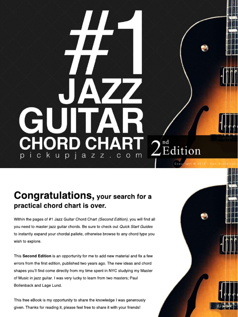1 Jazz Guitar Chord Chart 2nd Edition Chord Music Pitch Music