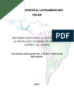 Proceso de Sistematización de Movilidad Humana en America Latina - CELAM - Avances