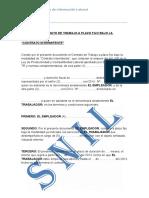 Modelo Contrato de Trabajo Intermitente