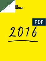 2016 International Festival Brochure