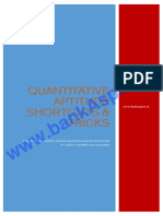 Quantitative Aptitude Shortcuts for Bank Exam
