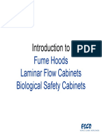 Introduction to Fume Hood Laminar Flow and Biological Safety Cabinets