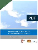 LOS CIUDADANOS ANTE EL DESARROLLO LOCAL