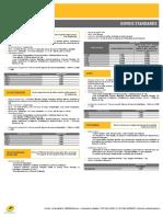Principaux tarifs au départ de la Réunion à compter du 1er janvier 2016