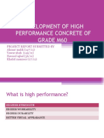 DEVELOPMENT OF HIGH PERFORMANCE CONCRETE OF GRADE M60.pptx.ppt