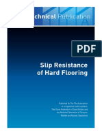 Slip Resistance of Hard Flooring