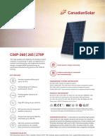 Canadian Solar Datasheet CS6P P v5.4C2en
