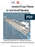 Seakeeping Assessment of Large Trimaran for Naval Aircraft Operations