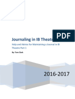 help and advice for keeping a journal in ib theatre part 11