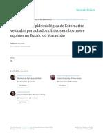 Investigação Epidemiológica de Estomatite Vesicular Por Achados Clínicos Em Bovinos e Equinos No Estado Do Maranhão
