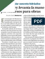 05-08-16 Monterrey levanta la mano por recursos para obras