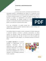 Analisis de La Gestion Educativa