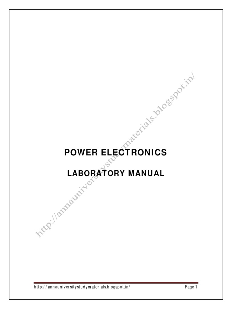 Power Electronics Lab Manual Field Effect Transistor Mosfet Methods For Automotive Circuits Electronicslab