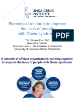 Biomedical research to improve the lives of people with Down syndrome