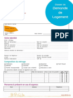 Dossier Demande de Logement Alfa3a