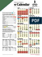employee calendar 1617