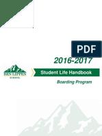 Boarding Program Student Life Handbook 2016-17