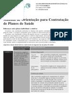 Manual de Orientação para Contratação de Planos de Saúde