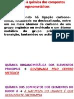 Introduc3a7c3a3o Aos Compostos Organometc3a1licos