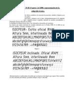 Caligrafia Tecnica NCH 15 OF 2000