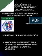 INSTRUMENTO PARA MEDIR EL CLIMA ORGANIZACIONAL