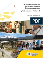 Proceso de Formulación y - o Actualización de Planes de Desarrollo y Ordenamiento Territorial (1)