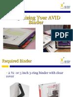 organizing your binder   portfolio