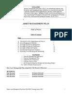 Sample Asset Management Plan