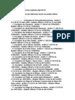 Casamémoire Liste Des Bâtiments Inscrits Au Bulletin Officiel