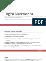 Clase 1 Lógica Matemática (Segundo Módulo)