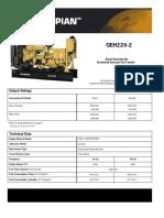 Geh220-2 Spec 200kw Cat