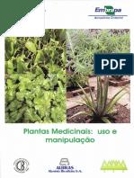 Plantas Medicinais Uso e Manipulação Cartilha Mpa