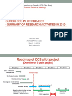 Gundih CCS Pilot Project- - Summary of Research Activities in 2013
