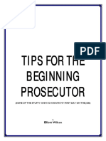 So You Want to Be a Prosecutor
