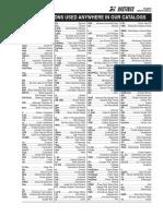 Abreviaciones de Catalogo Hastings Filtros