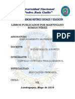 Libros Publicados Por Martiniano Román