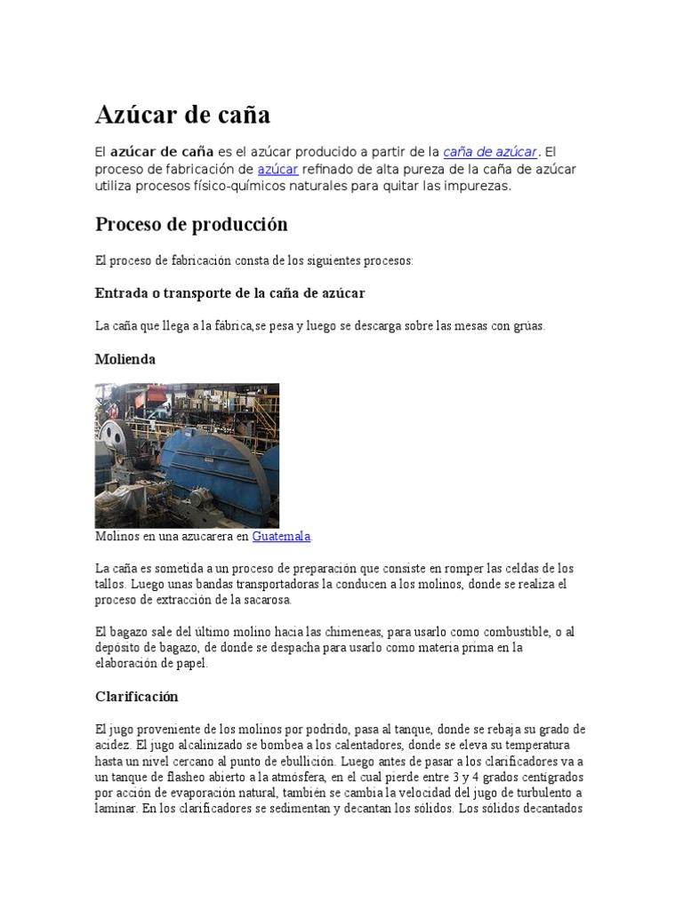 Circuito Productivo De La Caña De Azucar : Fabricacion de azucar
