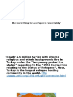 syrian refugee presentation