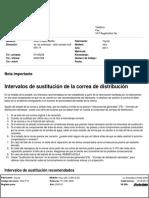 Intervalos de Sustitución de La correa de distribucion