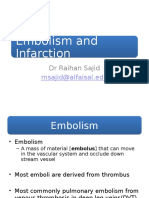 Embolism Infarction and Shock