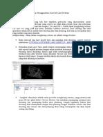 Menghitung Volume Dengan Menggunakan AutoCad Land Desktop
