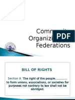 Community Organizing for Federations