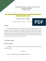 Relatório Do Experimento - Leonardo Tártari